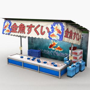 japanese street stall 0005 3D model