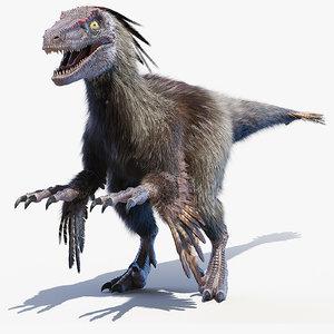 3D model velociraptor v