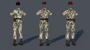 military costume outfit 3D model