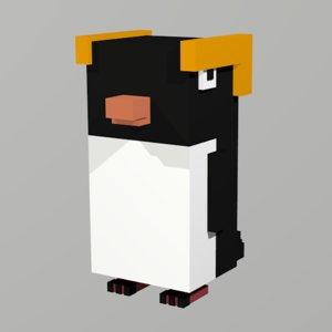 penguin voxel 3D model