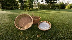 wicker basket 3D