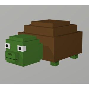 turtle voxel 3D model