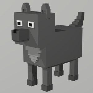 3D wolf voxel