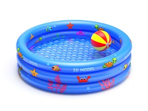 inflatable pool 3D