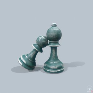 set horse pawn 3D model