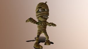 mummy fully rigged 3D model