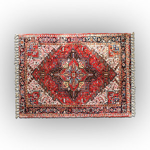 aladdin vintage carpet rug 3D model