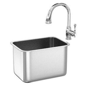3D faucet sink grohe bridgeford