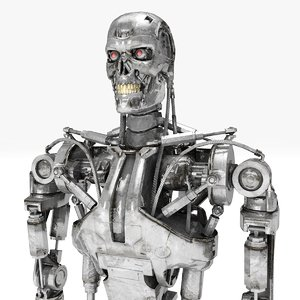 terminator t-800 rigged 3D model