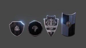 3D shield set model