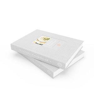 healthy cookbooks books 3D