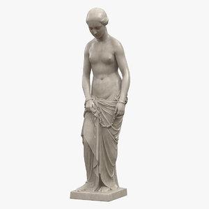 3D slave girl statue model