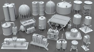 20 pieces industrial tanks model