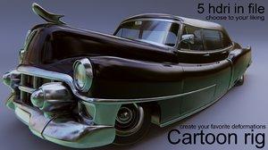 3D cadillac 75 1953 model