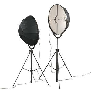 3D pallucco fortuny moda floor lamp model