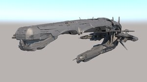 sci fi alien spaceship 3D model