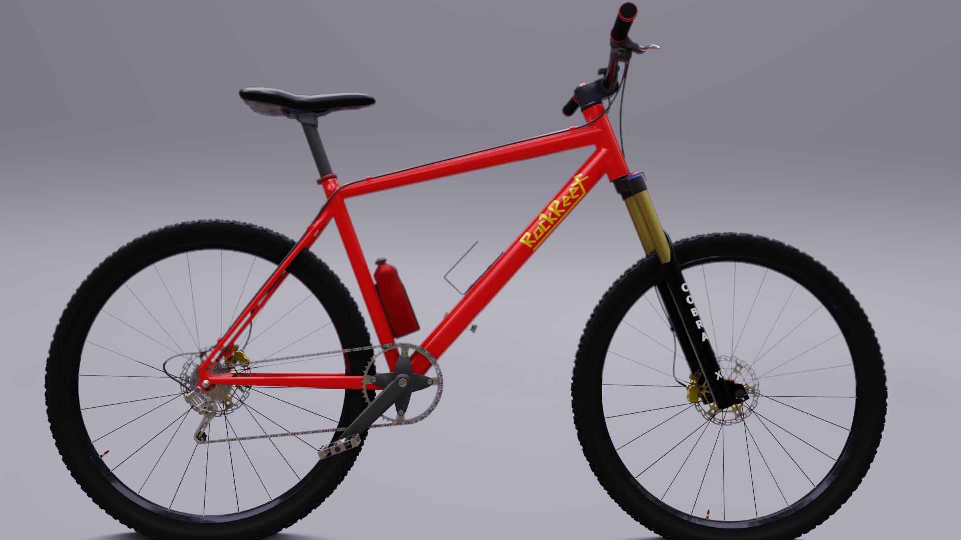 3D model mountain bike hardtail