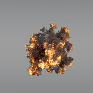 aerial explosion 05 vdb 3D