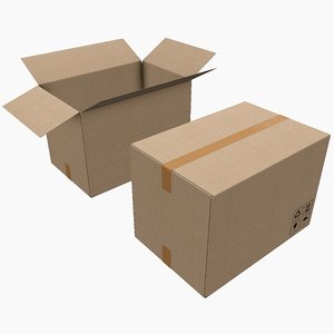 pbr cardboard box 3D model