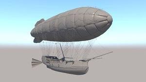 ship sky 3D model