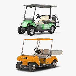 golf cars 3D model