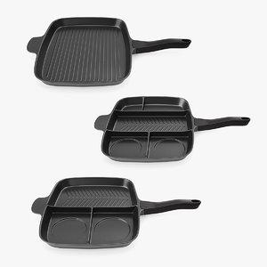 3D grill pans model