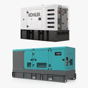 industrial generators 3D model
