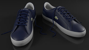 lacoste navy white shoes model