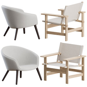 3D chairs ditzel lounge fredericia model