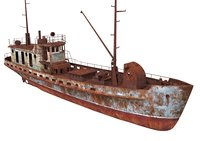 Old Abandoned Rusted Ship 2