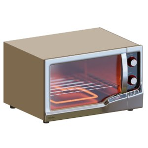 oven oster grill 3D model