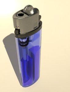 clear cigarette lighter 3D model