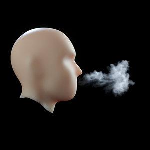vdb freezing breath 3D model