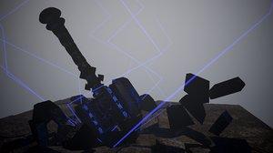 hammer composition 3D model