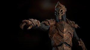 3D armor weapon warrior