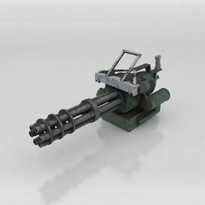 realistic minigun 3D model