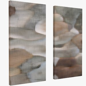 3D model contemporary art canvas b