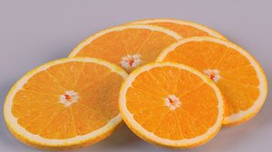 citrus orange fruit slices 3D