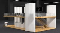 2 Floors Simple and Minimalist Exhibition Booth Design