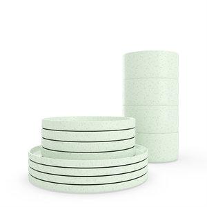 modern dining speckled set model