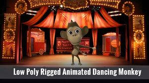 3D dancing monkey
