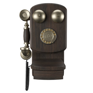 vintage wall phone 3D model