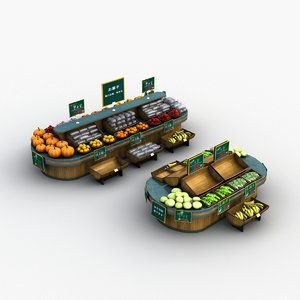 3D fruit vegetable display stand