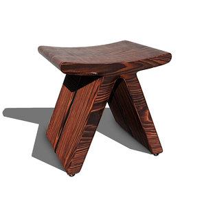 3D cute flip stool v