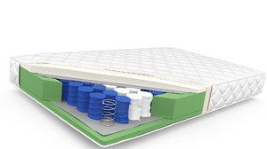 mattress cover sponge 3D
