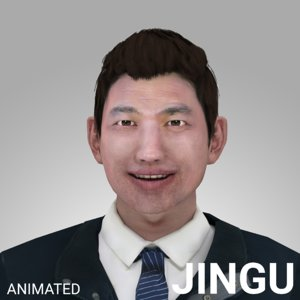 3D rigged male - model