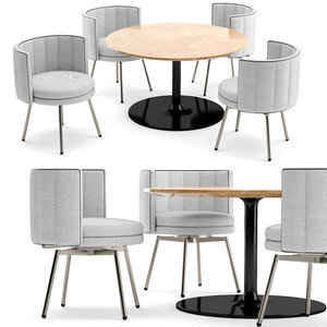 v-ray corona chair table 3D