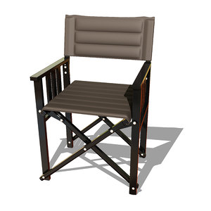 stylish metal chair x 3D