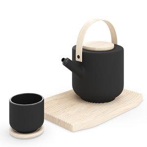 3D stelton theo teapot tea