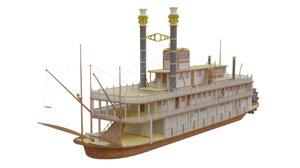 3D river steamer model